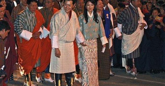 Bhutan's newly wed royal couple returns home