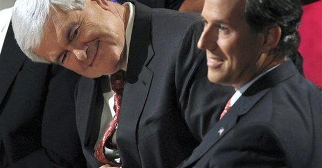"""Gingrich calls Romney """"Rockefeller Republican'"""