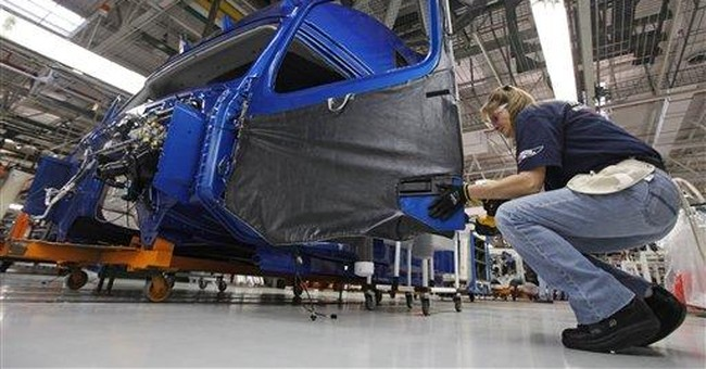 Factory output rises on truck, airplane demand