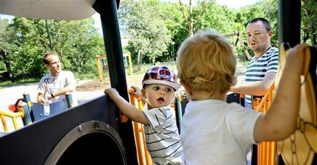 Swedish dads swap work for child care