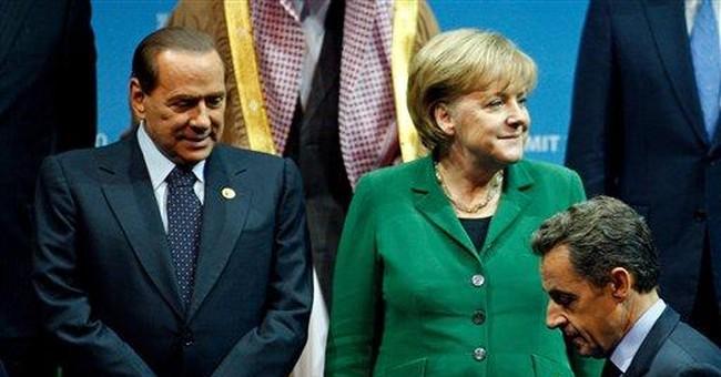 Berlusconi insists Italy economy sound, chides EU