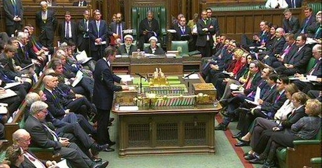 UK lawmakers defy gov't over Europe