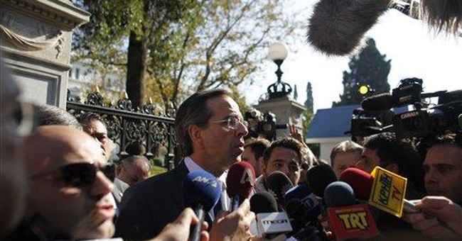 Greek PM, opposition reach power-sharing deal