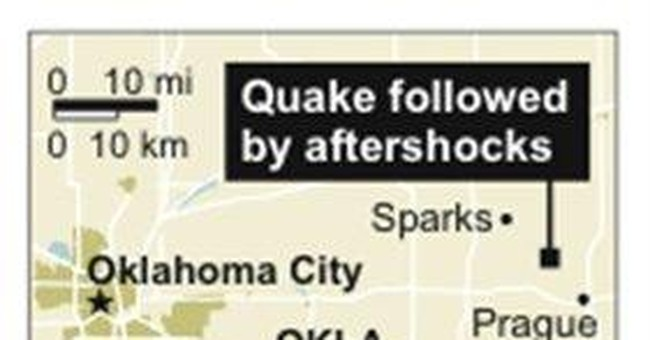 Big quake follows increase in Oklahoma rumblings