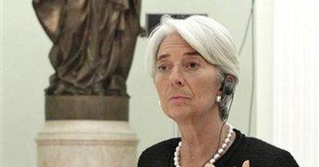Medvedev, IMF chief discuss eurozone debt crisis