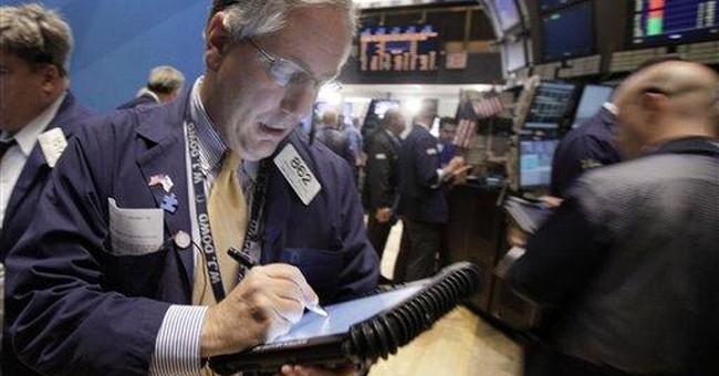 Stocks push higher; Dow regains the 12,000 mark