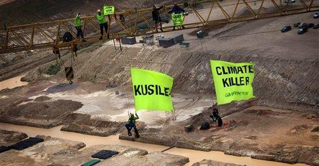 Greenpeace protests SAfrica coal plant; 9 arrests