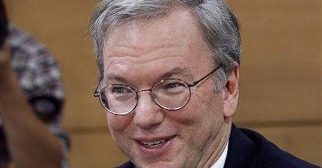 Eric Schmidt defends Google, mourns Jobs' death