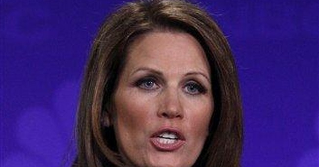 Bachmann book plays up her past political rebounds