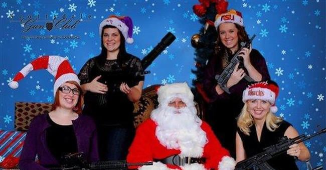 Arizona gun club offers photos with Santa, rifles