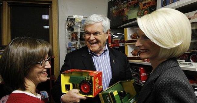 Gingrich goes after rivals despite positive pledge