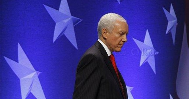 Conservatives heckle Hatch at CPAC