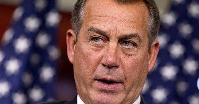 Boehner says Obama can't run on economic record
