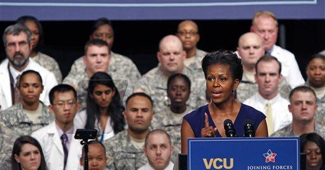 First lady: More research on veterans medical care