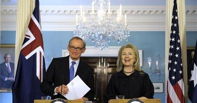 Clinton welcomes Aussie minister out of retirement
