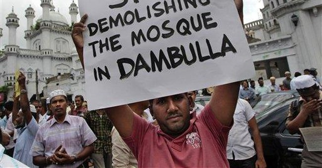 Sri Lankan Muslims protest demolition of mosque