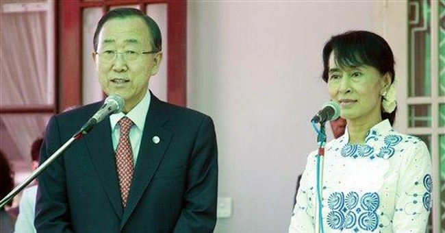 UN chief hails flexibility of Myanmar's Suu Kyi