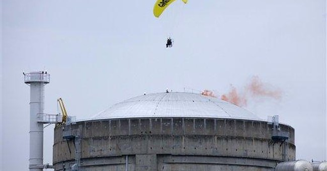 Aerial protester strikes at French nuclear site