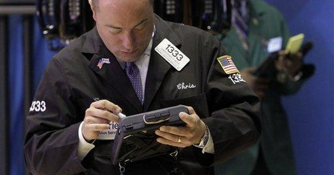 US stocks fall after conflicting economic reports
