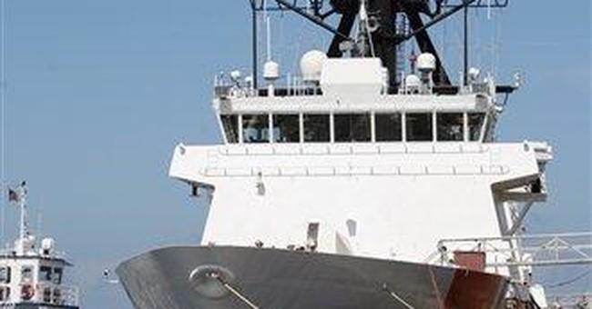 New Coast Guard ship has rust, holes in hull