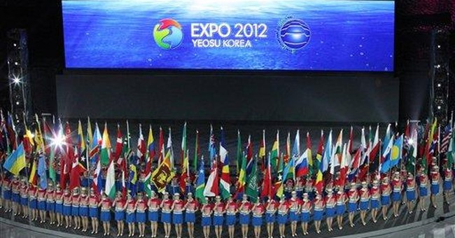 Expo opens in South Korea with robots, ocean theme