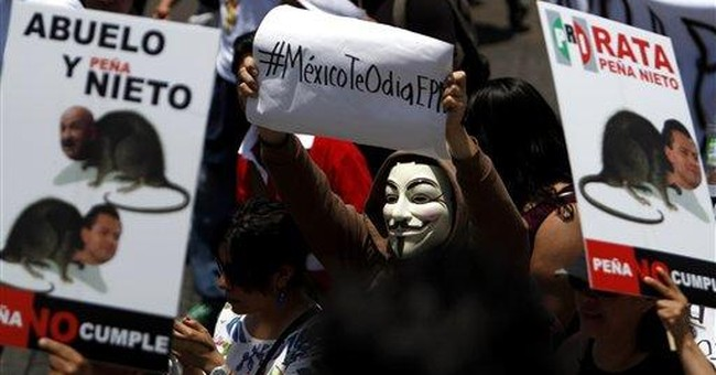 Mexican youth march against old ruling party