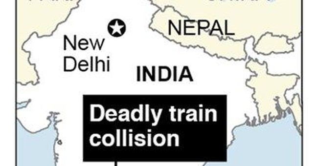 Indian passenger train rams freight train; 25 dead