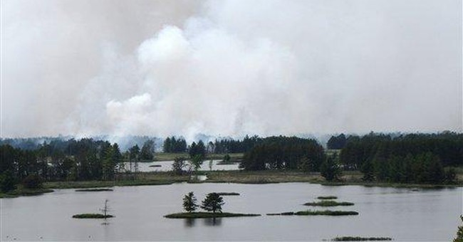 Fast-moving Michigan wildfire burns 17,000 acres