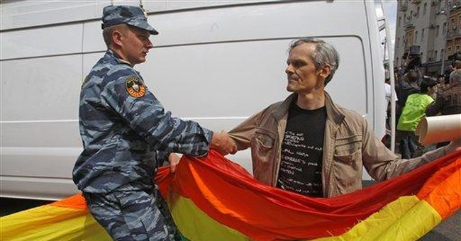 Moscow police detain 40 as gays push for parade