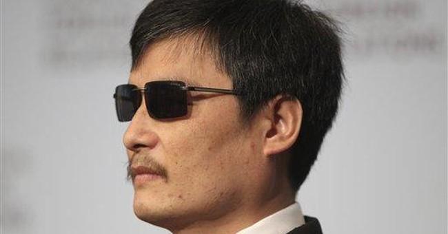 Blind Chinese activist seeking book deal