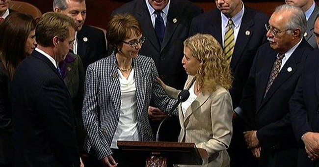 Giffords says goodbye with a plea for civility