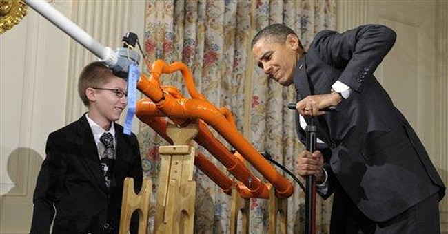 Obama's inner geek: robots to flying marshmallows