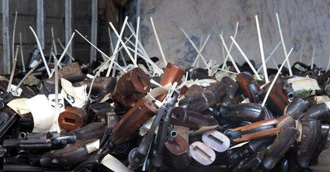Jamaica government destroys 2,000 guns in furnace