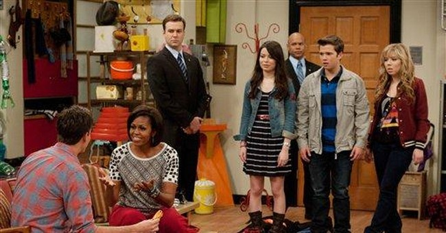 First lady makes appearance on `iCarly'