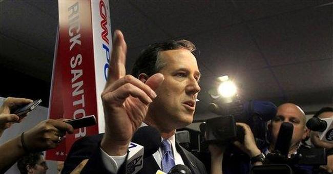 Romney pounces on Santorum's Senate compromises