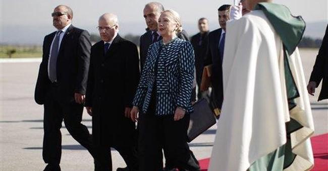 In Tunisia, Clinton cites promise of Arab Spring
