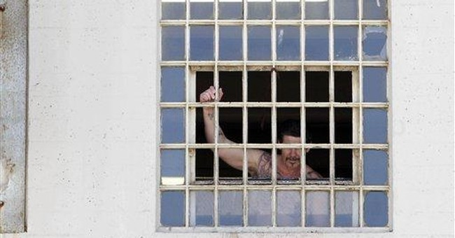 California prisons remove symbol of overcrowding