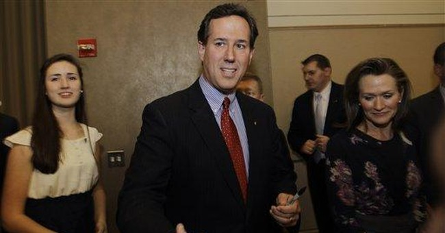 Santorum: Conservative vote could beat Romney