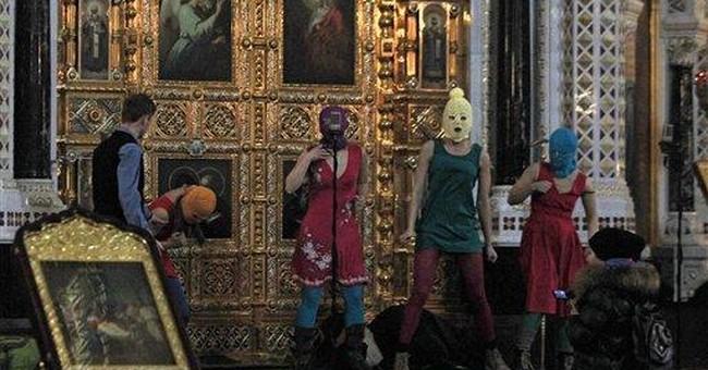 Russian punk rockers in jail for anti-Putin prayer