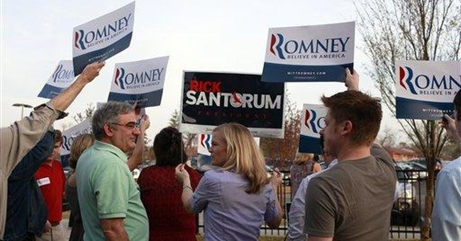 Santorum campaigns in Missouri as caucuses begin