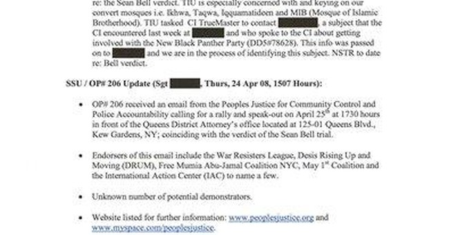 Documents show NYPD infiltrated liberal groups