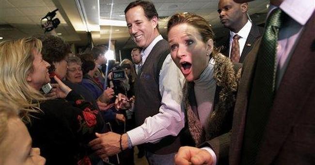 Santorum hits Romney for joke about firing people