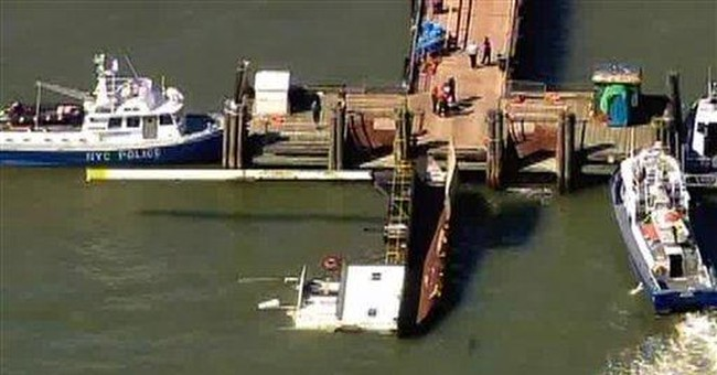 Boat overturns near NY's Liberty Island; 3 rescued