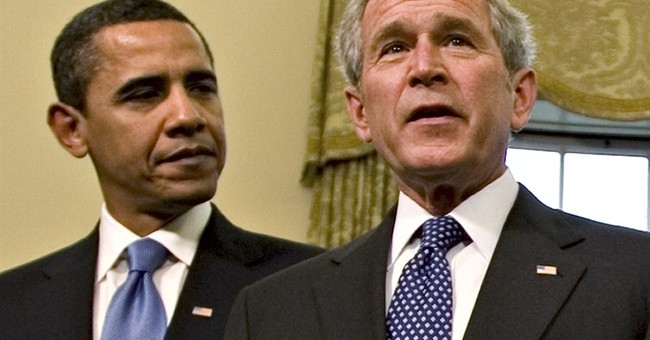 Obama and Bush, partisans who share common ground