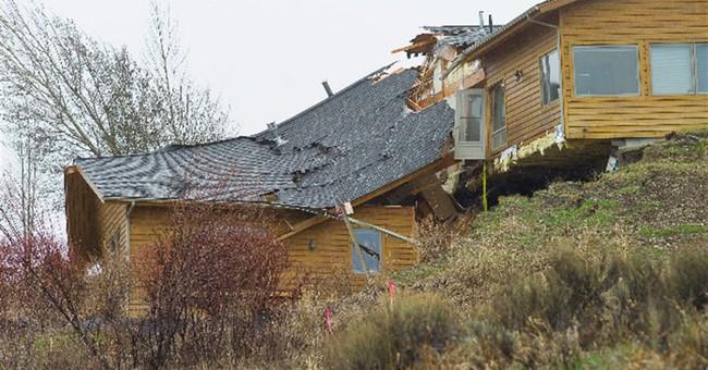 Sudden movement raises alarm in Wyoming slide area