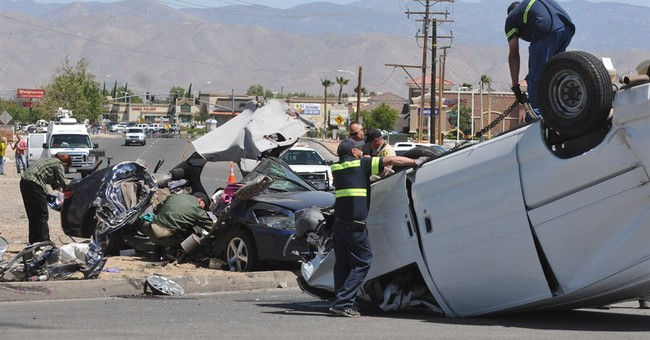 5 killed when van smashes into car in California