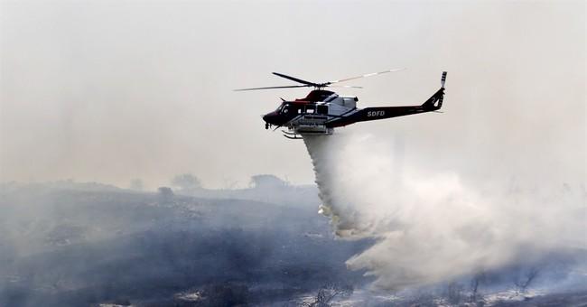 9 wildfires burn across San Diego County