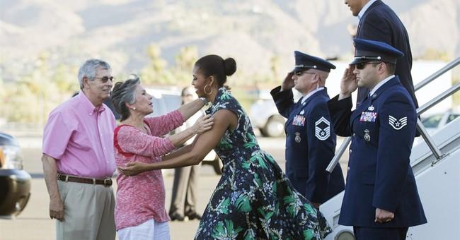 Obamas kick off long weekend in California