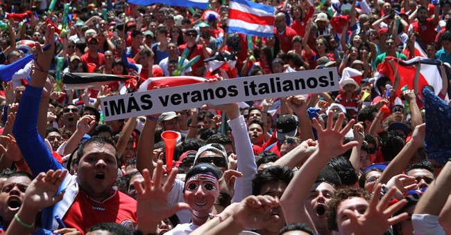 Costa Ricans fill streets to celebrate Cup win