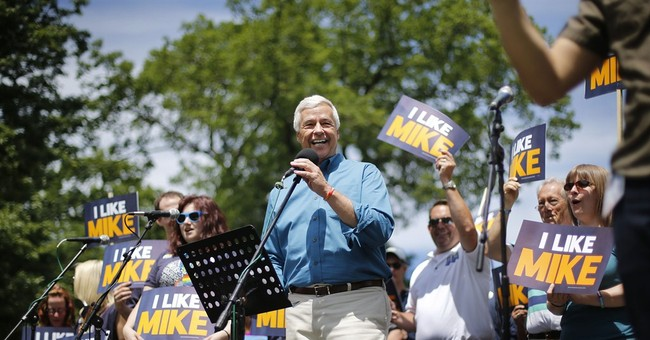 Openly gay governor candidate leads pride parade